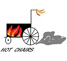 Hot chairs Flames Photographic Print