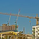 thee cranes ov brisbane by Craig Dalton