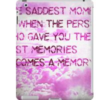 pink clouds saddest moment iPad Case/Skin