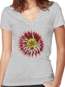 Fireworks Transparent Women's Fitted V-Neck T-Shirt