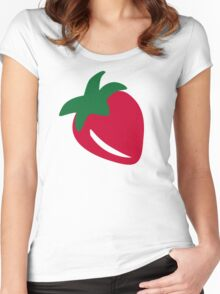 Red Strawberry Women's Fitted Scoop T-Shirt