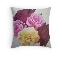 Softness of Roses Throw Pillow