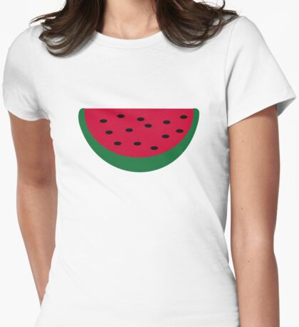 Red Watermelon Womens Fitted T-Shirt