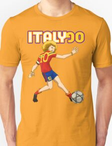 Italy 90 vintage soccer player Unisex T-Shirt