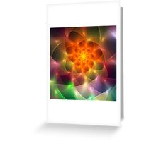 Colourful fractal vortex abstract Greeting Card