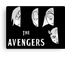 With The Avengers Canvas Print