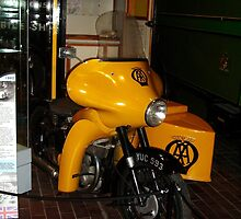1950s AA Motorbike and Sidecar by Woodie