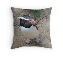 Penguin Power Throw Pillow