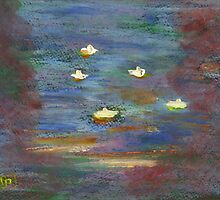 Water lillies by sword