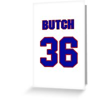National baseball player Butch Metzger jersey 36 Greeting Card