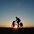 Sunset Cycling by Alastair Humphreys