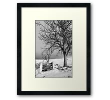 Hold my hand, son Framed Print