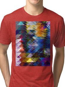 Colorful Geometric Texture Tri-blend T-Shirt