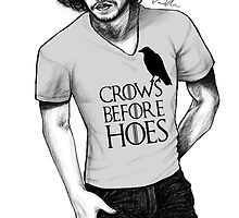 Jon Snow - Crows Before Hoes by camillaofficial