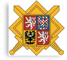 Military of Czech Republic Coat of Arms Canvas Print