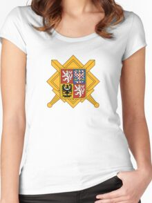 Military of Czech Republic Coat of Arms Women's Fitted Scoop T-Shirt