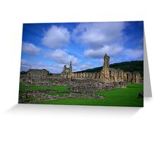 Byland Abbey -3 Greeting Card