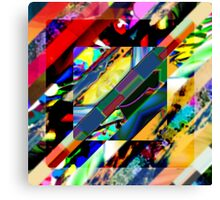 Colorful Collage Cube Canvas Print