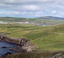 Shetland - Compass Point and airport by Twscats