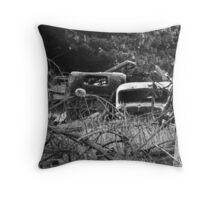 Car Yard Throw Pillow