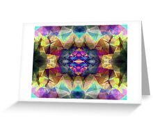Abstract Symmetrical Coloration Greeting Card