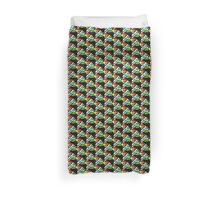Fish on a line, MODERN ART, ABSTRACT, multicolor Duvet Cover