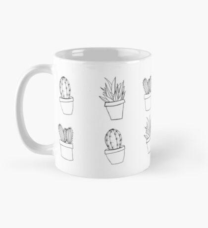 Minimal Cactus Print - Hand Drawn Mug