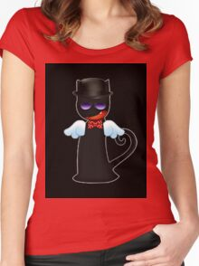 Angel or Devil? Women's Fitted Scoop T-Shirt