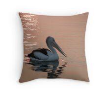 """Pelican """"Bush fire sunset"""" Throw Pillow"""