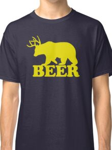 Funny Beer Bear with Antlers Classic T-Shirt