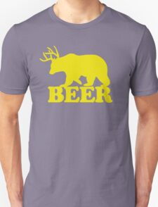 Funny Beer Bear with Antlers T-Shirt