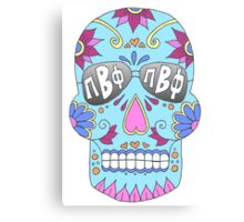 Pi Beta Phi Sugar Skull Canvas Print