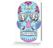 Pi Beta Phi Sugar Skull Greeting Card