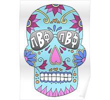 Pi Beta Phi Sugar Skull Poster