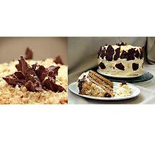 Chocolate Mascarpone Praline Cake  Photographic Print