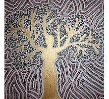 woman-tree Photographic Print