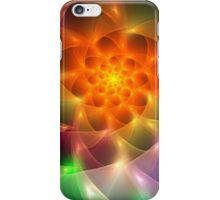 Colourful fractal vortex abstract iPhone Case/Skin