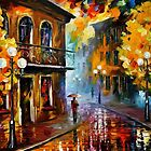 Fall Rain 2 — Buy Now Link - www.etsy.com/listing/219987095 by Leonid  Afremov