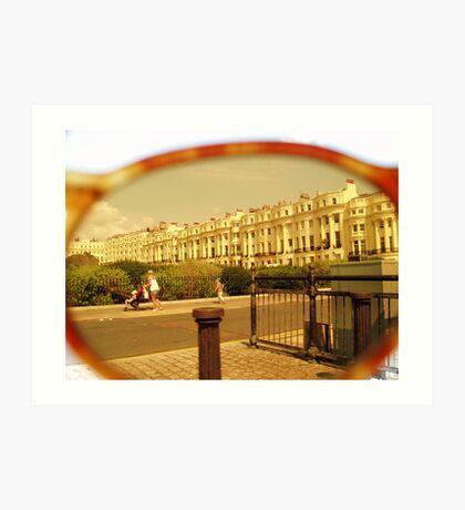 Lens view Art Print