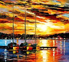 Three Brothers — Buy Now Link - www.etsy.com/listing/219974903 by Leonid  Afremov