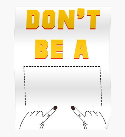 Don't Be A Square. Poster