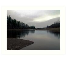 On The Wallace River Art Print