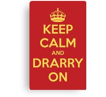 Keep Calm and Drarry On - Gryffindor Version Canvas Print