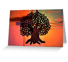 Black Tree Gold Greeting Card