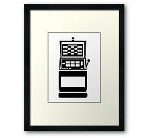Slot machine casino Framed Print
