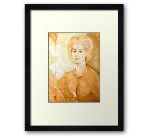 Anne Parker Self Portrait Framed Print