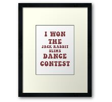 Jack Rabbit Slims Framed Print