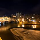 Pulteney Bridge by night  by Rob Hawkins