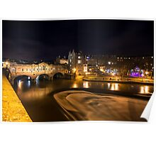 Pulteney Bridge by night  Poster