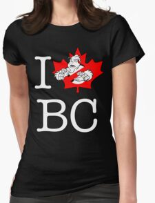I PNW:GB BC (black) Maple Leaf v2 Womens Fitted T-Shirt